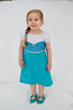 Elsa Inspired Dress  sparkle bodice and shimmer cape by AliandLu, $50.00