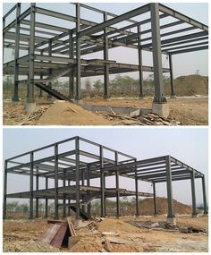 Metal Building Kits, Steel Building Homes, Building Stone, Steel Frame House, Steel House, Concrete Structure, Steel Structure, Glass Pavilion, Casas Containers