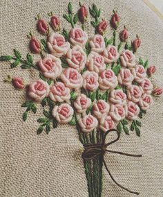 Wonderful Ribbon Embroidery Flowers by Hand Ideas. Enchanting Ribbon Embroidery Flowers by Hand Ideas. Brazilian Embroidery Stitches, Hungarian Embroidery, Hardanger Embroidery, Types Of Embroidery, Learn Embroidery, Rose Embroidery, Hand Embroidery Stitches, Silk Ribbon Embroidery, Hand Embroidery Designs