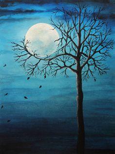 Blue Moon in Fall