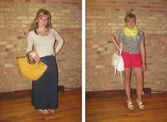 2 Girls, 2 Cities: What I Wore Challenge - Stripes