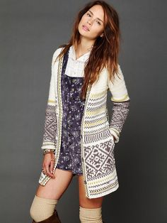Perfect over-everything fall and winter sweater. Free People Annabelle Cardigan, $198.00