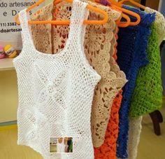 Tecendo Artes em Crochet: Blusas Lindas de crochê com Receitas! …