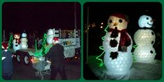 The Waste Management team in Napanee, Canada decorated a WM truck and float for the Napanee and Deseronto holiday parades. For several years, these WM employees have partnered with other local groups to collect donations for the food banks in those communities. The snowmen were built from a thousand recyclable plastic cups.    We appreciate the WM employees and their families for making both events a great success.