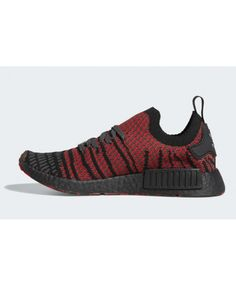 03c7f0ed7 Adidas NMD R1 Primeknit Collegiate Red Black Trainers