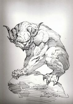 Gargoyle commission by Bernie Wrightson.