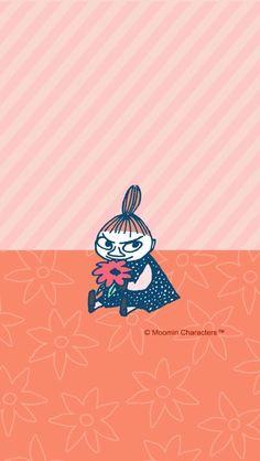 Moomin Little My Tove Jansson, Cute Wallpapers, Wallpaper Backgrounds, Iphone Wallpaper, Sanrio Characters, Cute Characters, Moomin Tattoo, Little My Moomin, Moomin Wallpaper