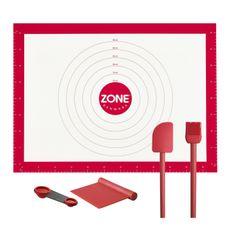 Zone Dough Mat Set, In Red | ACHICA