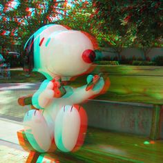 Snoopy At The Shultz Museum - 3D Anaglyph Photography.