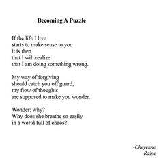 Instagram media by rainepoetry - Becoming a Puzzle // #Poem #Poetry #Puzzle