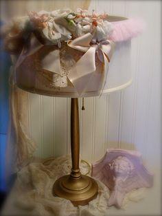Vintage Table Lamp  Embellished Vintage Trims by EdenCoveTreasures, $75.00