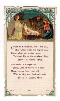 1943 Christmas Vintage Holy Card