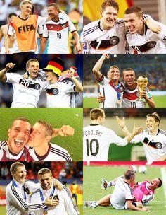 Sharing every moment together - Bastian Schweinsteiger and Lukas Podolski SCHWEINSKI