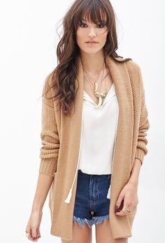Oversized Honeycomb Knit Cardigan | FOREVER21 - 2000067436 $24.80