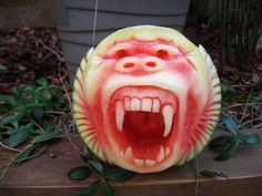 Impress your friends this 4th with a super cool gorilla watermelon.