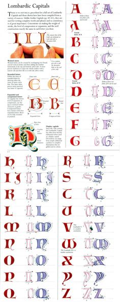 Lombardic Capitals - New Theme Calligraphy Worksheet, Copperplate Calligraphy, How To Write Calligraphy, Calligraphy Letters, Penmanship, Islamic Calligraphy, Hand Lettering Alphabet, Brush Lettering, Graffiti Alphabet