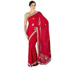 Zardosi Work Saree Red Hand Embroidered Stone Work Sari C... http://www.amazon.in/dp/B01HD1JUWC/ref=cm_sw_r_pi_dp_4PKFxb1VVQQK6