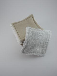 Lingettes lavable beige - beauté et soins bio - Ginger Passion - Fait Maison