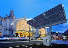 Groupe Hervé, Sudi Sudi, Station de recharge photovoltaïque. Sudi, les parkings intelligents  L'ombrière photovoltaïque est une station autonome et mobile de recharge d'énergie, pour les véhicules électriques. Innovante. Elle est la première station à utiliser, en exclusivité, les panneaux photovoltaïques les plus fins du monde, par leurs propriétés structurantes et autoportantes. Mobile Elle ne nécessite pas d'installation lourde et invasive, SUDI est posée sur le sol. Design RCP Design…
