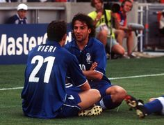 Christian Vieri and Alessandro Del Piero. Legends!