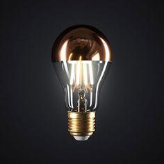 Zrkadlová kolekcia FILAMENT Demi Sphere, Led, Light Bulb, Dimmable, Mirror, Lighting, Home Decor, Italia, Gout