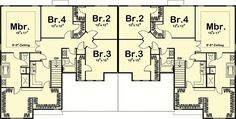 Attractive Duplex With Flex Room - 62521DJ   2nd Floor Master Suite, Butler Walk-in Pantry, CAD Available, Den-Office-Library-Study, PDF   Architectural Designs