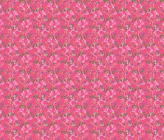 Floral (pink) fabric by lydia_meiying on Spoonflower - custom fabric