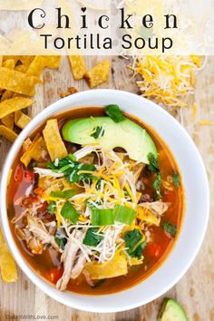 If you've searched far and wide for the Best Chicken Tortilla Soup out there, you can now rest easy knowing you've found it! I am so picky about this soup but this is, by far, my best chicken tortilla soup ever! There are a few canned ingredients in this