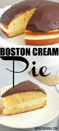 This is the BEST Homemade Boston Cream Pie Recipe. Made with a moist homemade cake, fresh Vanilla Custard & rich chocolate glaze on top! Homemade Vanilla, Homemade Chocolate, Homemade Cakes, Best Dessert Recipes, Fun Desserts, Delicious Desserts, Boston Cream Pie Cupcakes, Boston Creme Cake Recipe, Postres