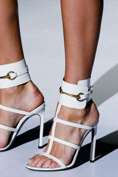 Sparkle at the parties: so that one does not appear too sparkly, go with these uber-sexy Gucci SS 2013 sandals - yum!