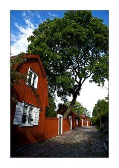 Lotsgatans old wooden Houses - Stockholm, Sodermanland