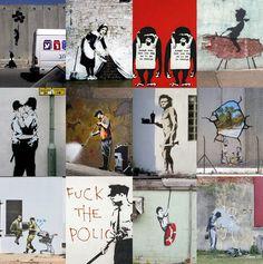 UK graffiti artist...Banksy