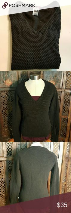 Final Price North Face Black Sweater Warm and cozy, v neck, black North Face sweater. Made of wool and cotton. See photos of tag.   Great quality. North Face Sweaters V-Necks