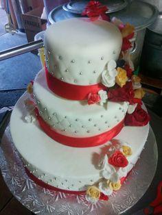 My first wedding cake order! Wedding Cakes, Desserts, Food, Tailgate Desserts, Meal, Wedding Pie Table, Dessert, Eten, Meals