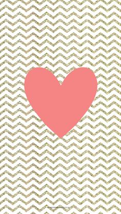 Free Chevron Heart iPhone Wallpaper