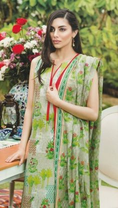 KHAADI BEIGE UNSTITCHED LAWN 3PCS SUIT