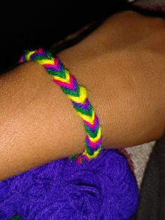 Fish tail Bracelet with wool