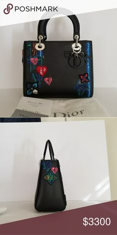 Lady Dior Limited Edition Valentines Gift 2016 carried 3 times like new.  there are tiny efd0a31057