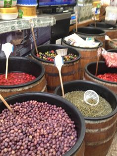 Barrels of Olives, #LittleItaly, Arthur Avenue, The Bronx, #NY