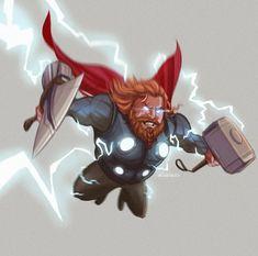 ArtStation - Thor (Avengers: End Game) Sketch Collection Cuddly Veedles Marvel Dc Comics, Marvel Heroes, Captain Marvel, Marvel Avengers, Avengers Cast, Avengers Memes, Arte Nerd, Asgard, Avengers Pictures