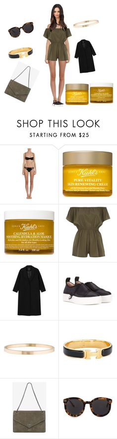 """""""Untitled #2578"""" by rine23 ❤ liked on Polyvore featuring Cosabella, Kiehl's, River Island, Monki, Calvin Klein Collection, Tiffany & Co., Hermès and Karen Walker"""