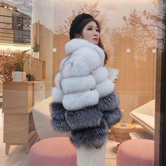 Smarter Shopping, Better Living! Aliexpress.com Coats For Women, Clothes For Women, Fox Fur Coat, Fur Fashion, Wedding Events, Lady, Leather, Shopping, Girls Coats