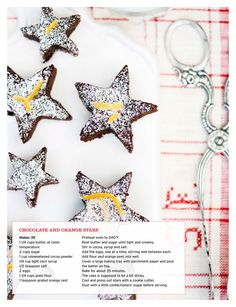 chocolate and orange stars