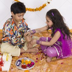 Raksha Bandhan celebrates and strengthens the bond of love between a brother and sister. Read on to know how the practice of Raksha Bandhan started, why it is considered sacred and how it is celebrated in India. Raksha Bandhan Day, Raksha Bandhan Images, Hindu Festivals, Indian Festivals, Rakhi Festival, Send Chocolates, Happy Rakshabandhan, Rakhi Gifts, Your Brother