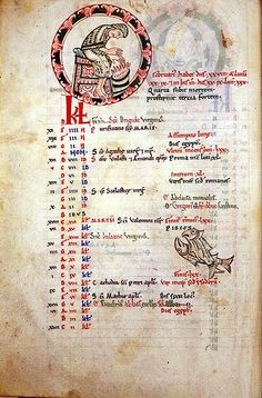 sta albans psalter   ... of the Months, February, St Albans Psalter - a photo on Flickriver