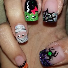 Glitzy Ghouls | 101 Halloween Nail Art Ideas That Are Better Than Your Costume