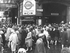 Crowds of people outside Oxford Circus underground station on the corner of Oxford Street and Argyll Street, London. Get premium, high resolution news photos at Getty Images Underground Tube, London Underground, 1960s Britain, Great Britain, Liverpool Street, Oxford Street, Vintage London, Old London, London City