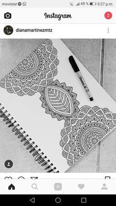 Mandala Art Lesson, Mandala Doodle, Mandala Drawing, Doodle Art, Doodle Patterns, Zentangle Patterns, Zentangles, Dibujos Zentangle Art, Pencil Art Drawings