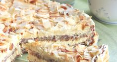 Svéd mandulatorta Almond Recipes, Baking Recipes, Cake Recipes, Dessert Recipes, Pie Co, German Baking, Basic Cake, Almond Cakes, Cakes And More