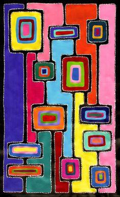 Risultato immagini per sally clark aboriginal art Aboriginal Painting, Dot Painting, Fabric Painting, Aboriginal Art For Kids, Tribal Art, Geometric Art, Kunst Der Aborigines, Australian Art, Indigenous Art